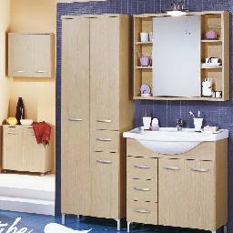 bagno completo chiaro - mobili per bagno - arredi su misura roma ... - Arredo Bagno Ostia Lido